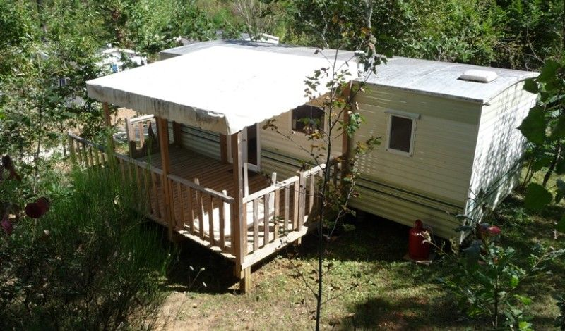 Calm and sunny mobilhome in perigord ideal for a couple for Camping dordogne avec piscine pas cher