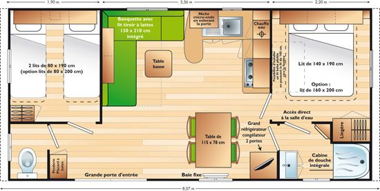 Mobil home super titania une grande location en dordogne for Mobil home 4 chambres