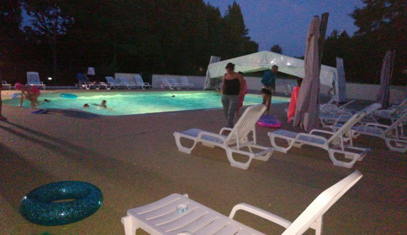 camping with perigord pool